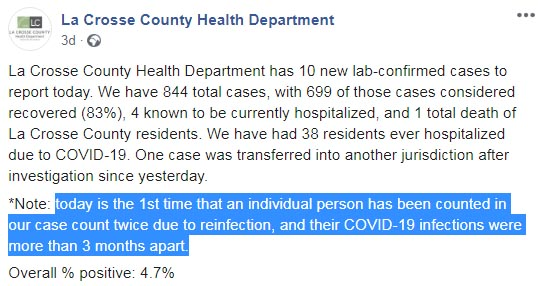 امريكا تعلن عن اصابة للمرة الثانية بفيروس كورونا