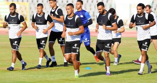 فريق المصري البورسعيدي فى التدريبات