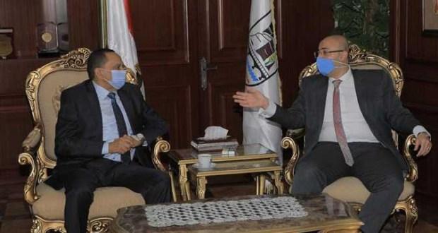 مدير أمن بني سويف فى لقاء مع محافظ بنى سويف