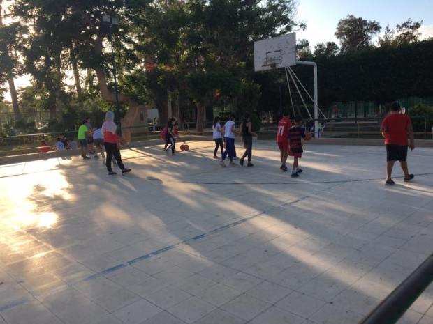 تدريبات كرة السلة نادي جرين لاند المنتزة