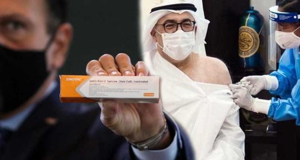وزير الصحة فى الإمارات يتناول لقاح فيروس كورونا الصيني