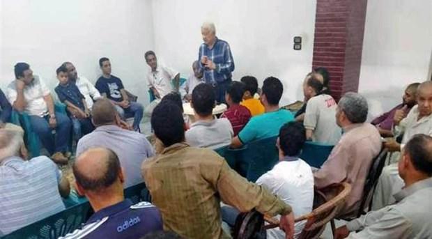مرتضي منصور يعقد مؤتمر إنتخابي في ميت غمر