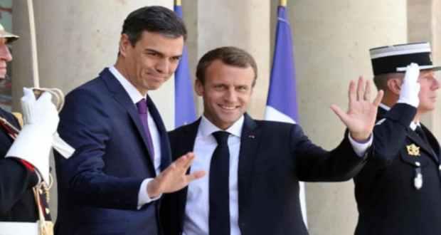 الرئيس الفرنسي ورئيس وزراء أسبانيا