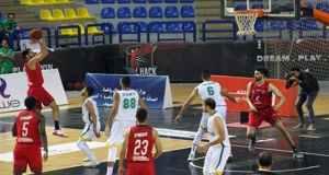 مباراة الاهلي وسبورتنح في كرة السلة بدوري المرتبط