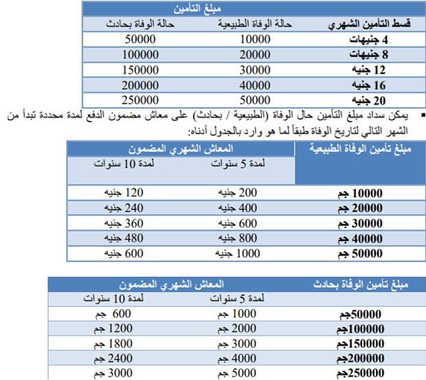 صرف تعويضات شهادة امان المصريين