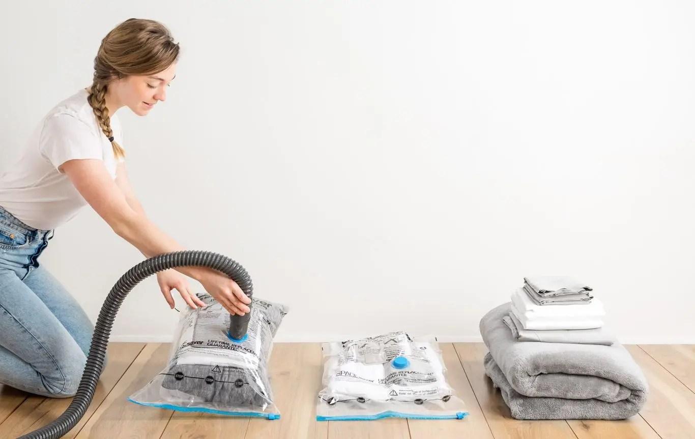 مجموعة أكياس ضغط الملابس - عرض 3 قطع