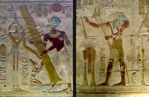 Reliefs in the Osiris Hall