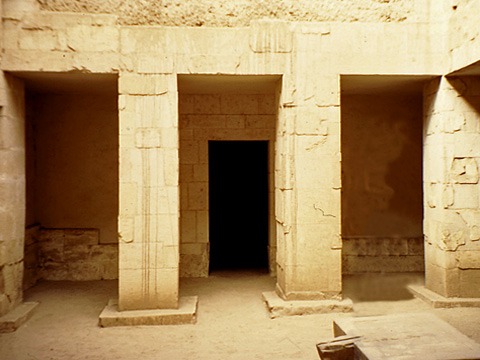 Sun court in the tomb of Ankh-hor