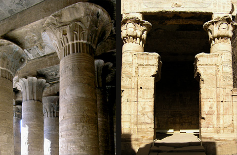 Hypostyle columns and 'The Pure Place'