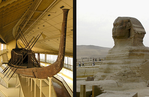 The Solar Boat and the Sphinx