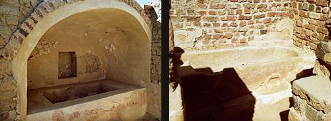 Restored Roman baths at Karanis