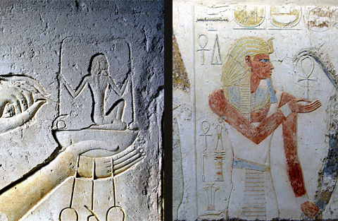 Reliefs of Amenhotep III found in the temple