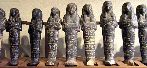 Shabtis from the Tomb of Nefertari (Egyptian Museum, Turin)