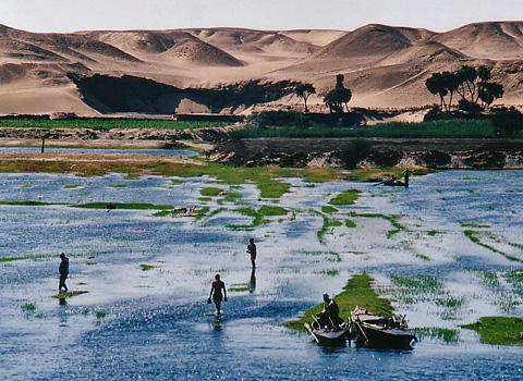 Fishermen on the Nile near Kom Ombo