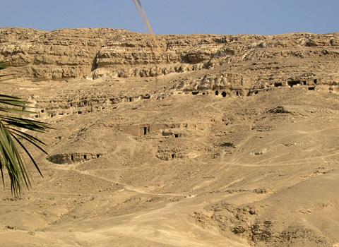 Rock-cut tombs at el-Sheikh Said