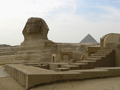 New Kingdom structure to the north of the Sphinx