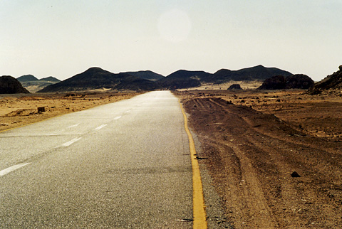 The road from Kharga to Dakhla