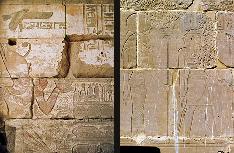 Reliefs at Hibis - The King and Deities