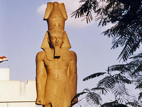 Rameses II standing in Midan Rameses