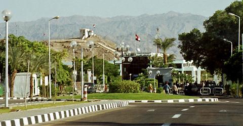 The border at Taba