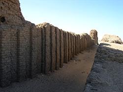 Niched walls of Khasekhemwy's enclosure