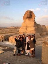 Will Smith and his family with the Great Sphinx of Giza, Egypt 2017 (Youm7)