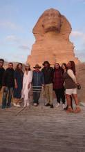 Will Smith and his family are accompanied by Egyptologist Dr. Zahi Hawass at the Great Sphinx of Giza, Egypt 2017 (Al-Ahram)