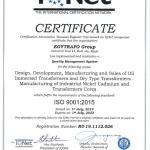Egytrafo group ISO 9001 - 2015