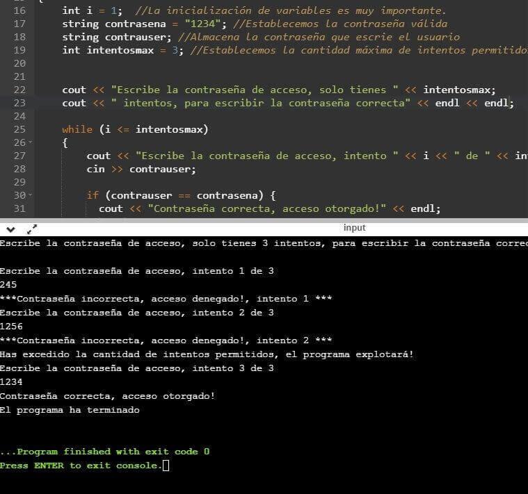 Promedio de números en C++