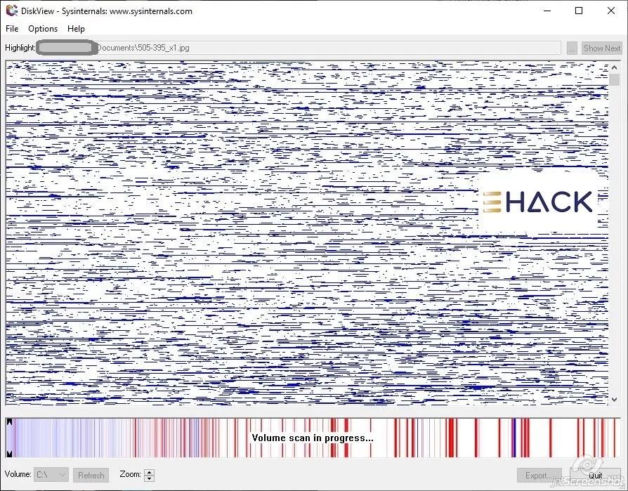 DiskView - Proceso de escaneo