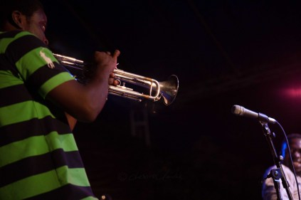 Kobby on the trumpet at The Cadence