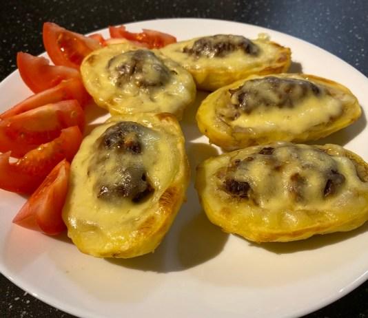 Фаршированный картофель запеченный в духовке _