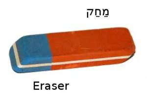 How to Say Eraser in Hebrew