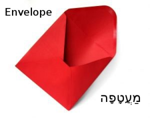 How to Say Envelope in Hebrew