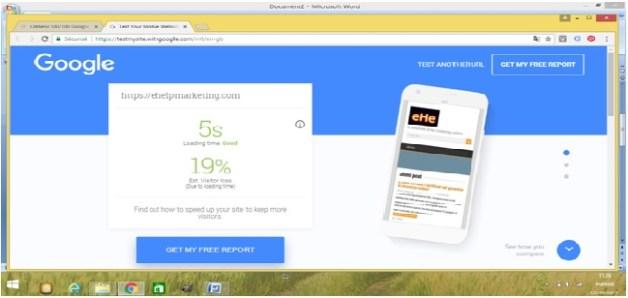 test my site on google