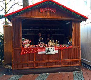 Hütte auf dem Steeler Weihnachtsmarkt