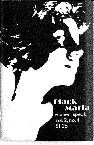 """Black Maria Cover"" Loyola University Chicago.Women & Leadership Archives. Connie Kiosse Papers."