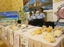 The Discovery Club members (also St. Andrews students) hosted the Bahamas National Trust booth.