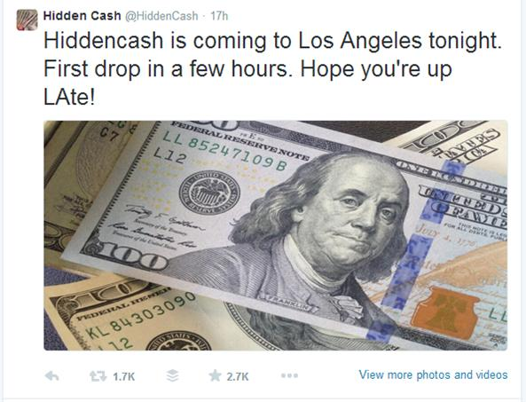 Hidden Cash coming to LA