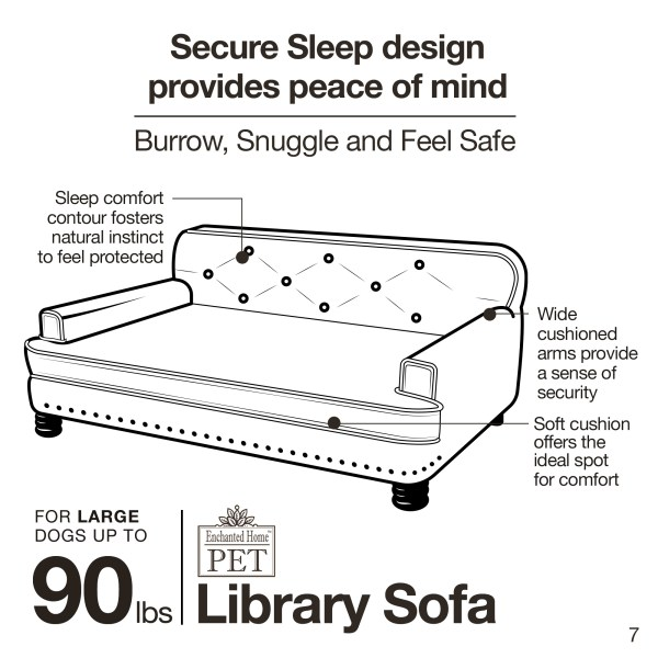 Library Bed - Caramel