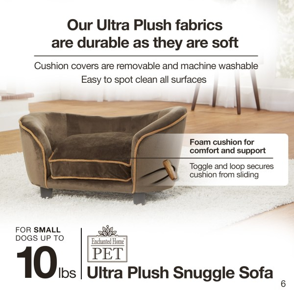 Ultra Plush Snuggle Bed-Basketweave - Brown