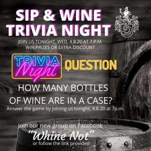 sip & wine trivia ad