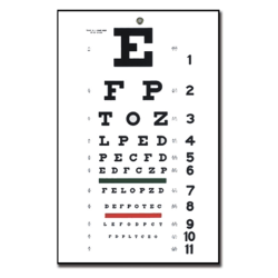 Traditional Snellen Optometric Chart