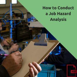 how to conduct a job hazard analysis