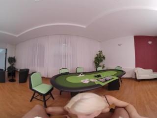 VR BANGERS European Blonde MILF Addicted To Cards VR Porn
