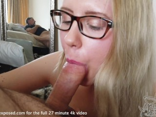 hot blonde giving me head between the scenes lucky camera man