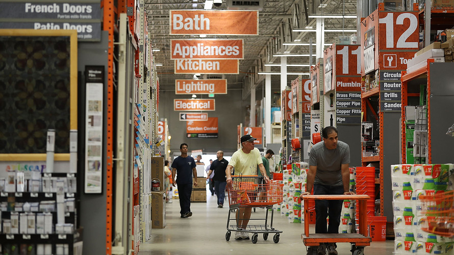 Home Depot sales lifted by tax cuts and booming housing ...