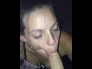 Ball sucking cock worship