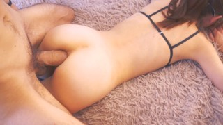 Luscious anal Fucking in Tight Ass, schoolgirl loves to Fuck with Big Dick