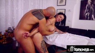 The masseur with Ladymuffin and Tommy A Canaglia
